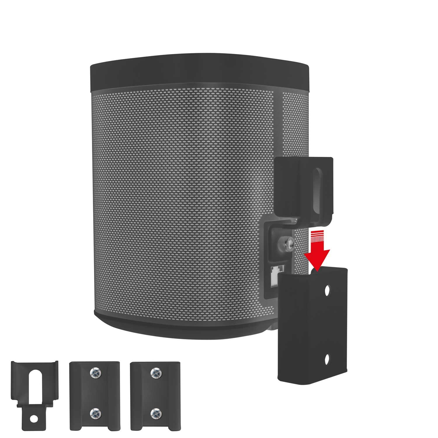 vebos portable muurbeugel sonos play 1 zwart. Black Bedroom Furniture Sets. Home Design Ideas