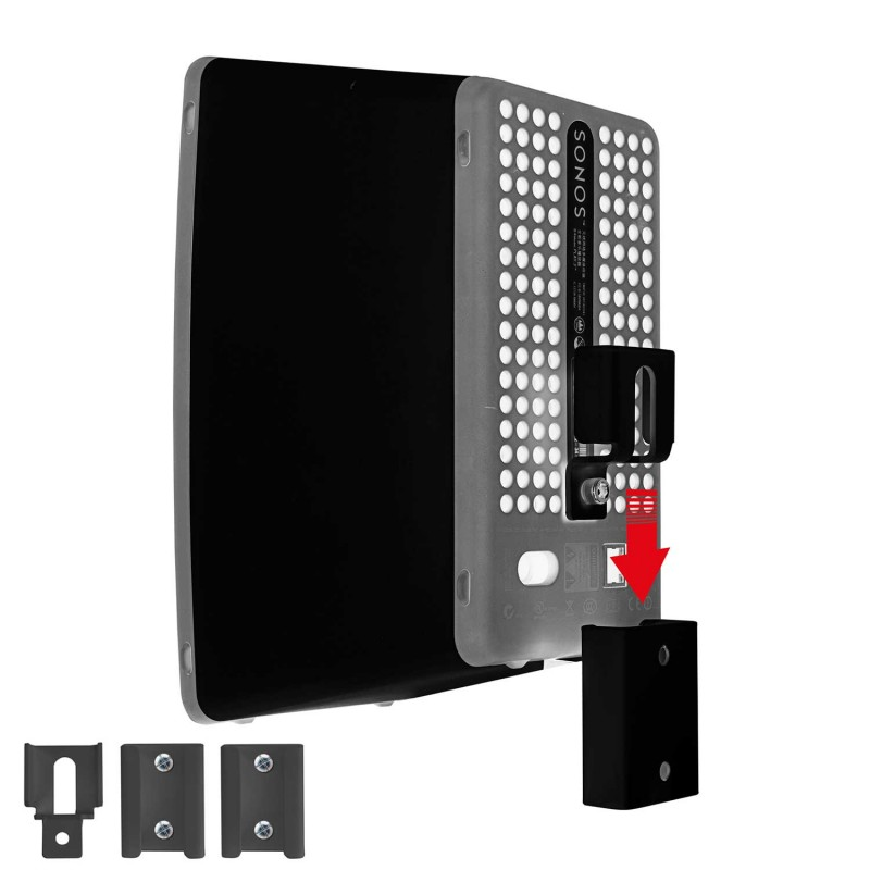 Vebos portable muurbeugel Sonos Play 3 zwart